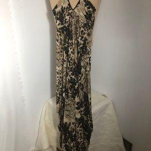 Womens LeChateau Brown/Black Summer Dress. SizeXXS